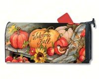 MailWraps Welcome Fall Pumpkins Mailbox Cover #01224 by MailWraps