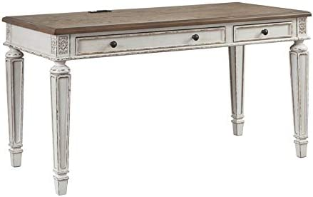 Signature Design by Ashley Realyn Home Office Desk Two-tone