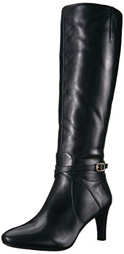Lauren Ralph Lauren Women's Elberta Fashion Boot, Black, 7 B US