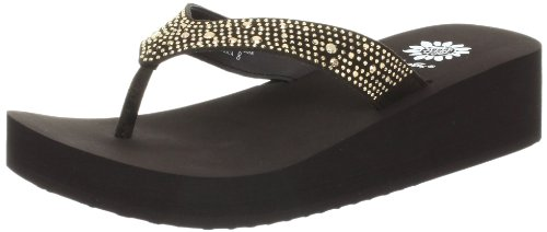 Yellow Box Women's Africa Wedge Flip Flop, Brown, 10 M US (Yellow Box Flip Flops Brown compare prices)
