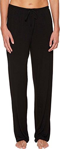 Donna Karan Women's Modal Spandex Jersey Long Pants Black Large
