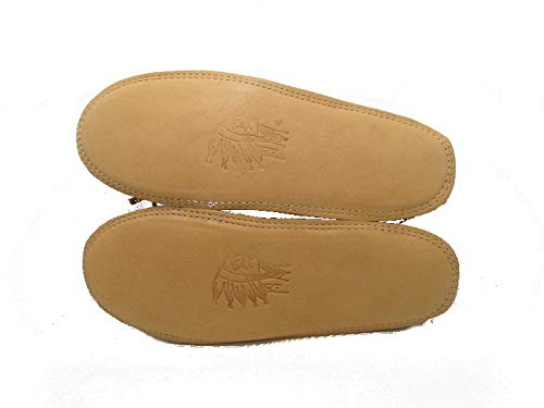 Chief Laurentian Padded Double Sole Tan Moccasin rzqxdrZWwE