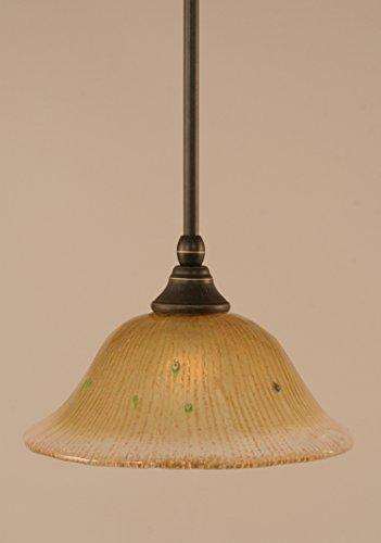 Toltec Lighting 23-DG-730 Stem Mini Pendant with Hang Straight Swivel with 10