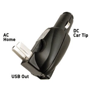 ZipKord Travel AC or DC to USB Combo Charger