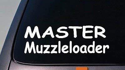 BrandVinyl Master Muzzleloader 6' Sticker Deer Hunting Powder Horn Black Powder Nipple