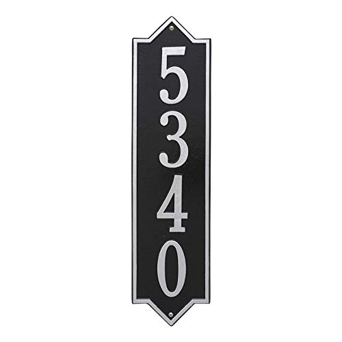 Personalized Norfolk Vertical Estate Wall Plaque (Black/Silver)