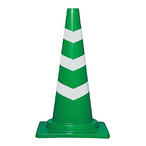 (業務用20個セット)三甲(サンコー) 三角コーン(パイロン/スコッチコーン) φ50 反射テープ付き グリーン(緑)×白テープ巻  B01LY9BUBW