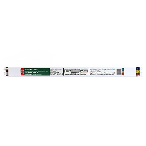 Lutron ECO-T554-277-2 ECO-10 T5Ho Fluorescent Dimming Ballast, 2 Lamp, 54W, 277V
