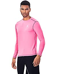 Athletic Men's Tech Stretch Performance Running T-Shirt Long Sleeve Thermal Compression Baselayer Tops