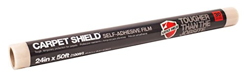 Surface Shields CS2450 Shield Protective Film for Carpeting, 24-Inch by 50-Feet, Clear