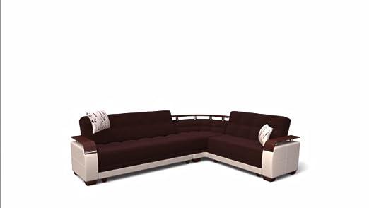 Amazon.com: Natural Seccional sofá | Valencia Gris: Home ...