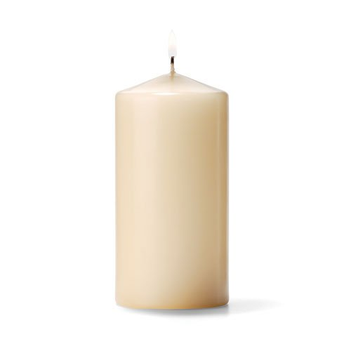 Unscented Pillar Candle Color: Ivory, Size: 3