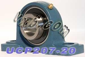 VXB Brand 1 1/4 Bearing UCP207-20 + Pillow Block Cast Housing Mounted Bearings 1.250 inch Bore ID Inner Diameter Bearing Insert