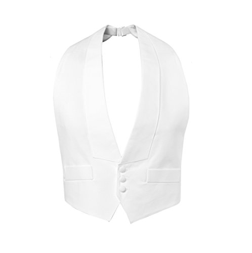 Pique Backless Vest & Self Tie Bow Tie (FITALL)