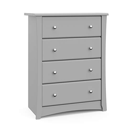 Storkcraft Crescent 4 Drawer Chest - Pebble Gray