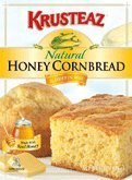 Krusteaz Natural Honey Cornbread & Muffin Mix, 15 oz. box (Pack 6)