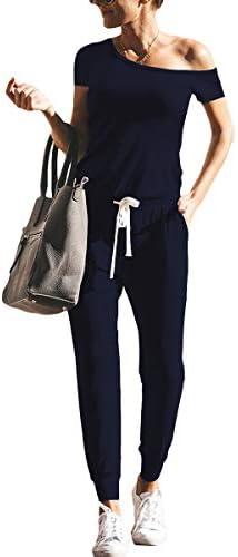 Womens Jumpsuits Shoulder Elastic Pockets product image