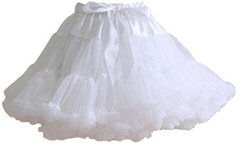 Nuotuo Womens Lolita Grenadine Tutu Pettiskirt White CC672A-F (Ruffled White Pettiskirt)