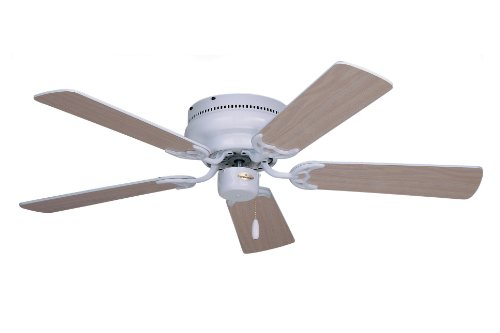 Emerson Ceiling Fans CF805SBS Snugger 52-Inch Low Profile Ceiling Fan (Hugger Ceiling Fan), Light Kit Adaptable, Brushed Steel Finish