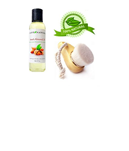 Price comparison product image Sweet Almond Oil Natural Pure Body Hair Skin and Nail Moisturizer Anti-Aging Anti-Wrinkle Skincare Healthy Shine for Hair Care Also Great as Massage Oil (4 oz)