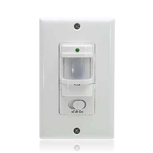 (Sensky BS033C Motion Sensor Light Switch, Occupancy Sensor Switch,White (Neutral Wire Required) )