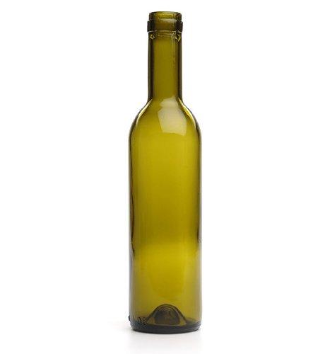 375 Ml Split Green Wine Bottles, Cork Finish by E.C. Kraus