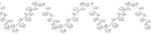 Beistle 1 Pack Snowflake Garland 25 Feet