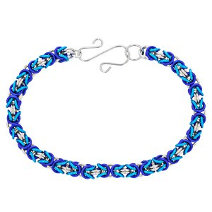 Weave Got Maille KIT-A802.03 3 Color Byzantine Chainmaille Bracelet Kit Winter Wonderland, -