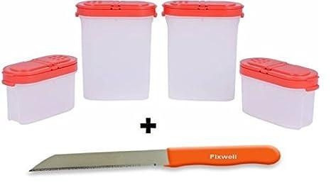 Nexxa Tupperware - Juego de 4 cuchillos para especias ...