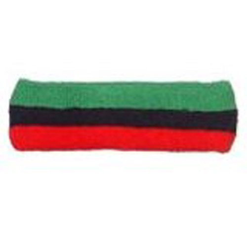 Striped Headband Red/Black/Green (Headband Red Green)