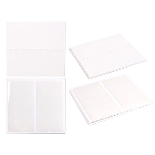 Juvale 24-Piece Self-Adhesive Label Holder Pockets with 24-Piece Blank Insert Cards - Ideal for Organizing and Identifying Binders and File Folders - Crystal Clear Plastic, 3 x 5.9 Inches