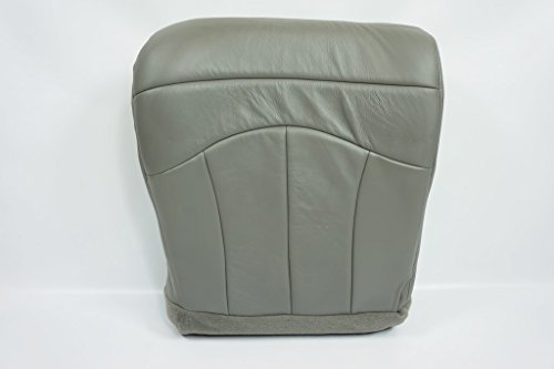 2001 Ford F-150 Lariat Super-Crew 4x4 F150 Driver Bottom Leather Seat Cover GRAY