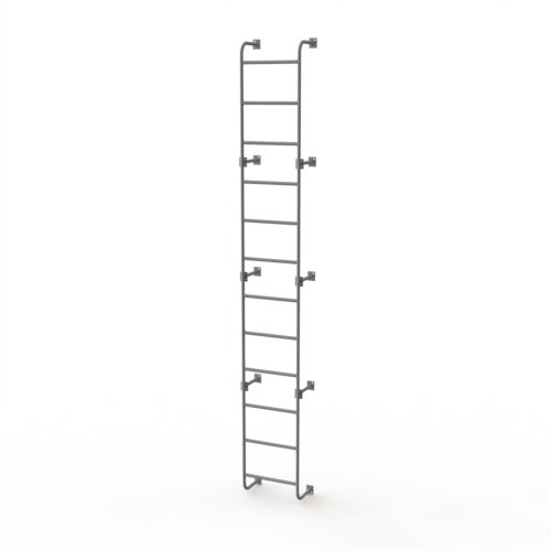 Tri-Arc WLS8SS 12-Step Steel Industrial & Warehouse Side-Step Dock Ladder