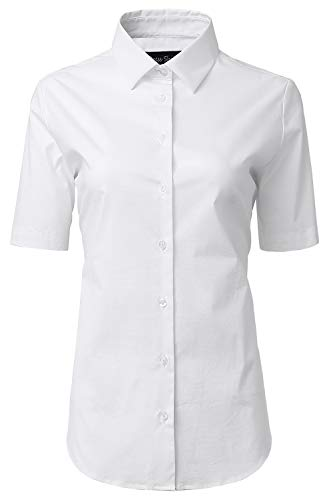 HORSE SECRET Button Up Shirts, Female Formal Work Wear Uniform Office White Shirts Size 10
