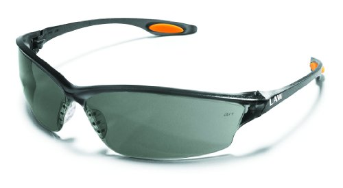 MCR LW212AF Crews Law 2 Safety Glasses Grey Frame Grey Lens Anti-Fog 1 Pair