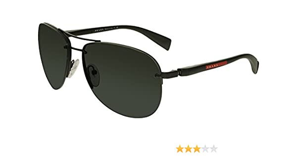 61b4efc1112f Amazon.com  Prada Sport PS56MS 1BO1A1 Black PS56MS Pilot Sunglasses Lens  Category 3 Size 65  Prada Sport  Clothing