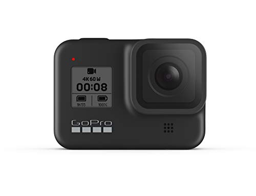 GoPro HERO8 Black - Waterproof Action Camera with Touch Screen 4K Ultra HD Video 12MP Photos 1080p Live Streaming Stabilization (International Model)