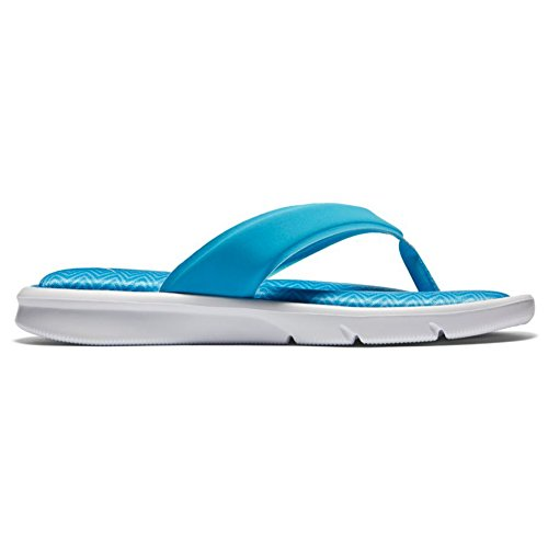 NIKE Frauen Ultra Comfort Thong Sandale Chlorblau / Gletscherblau / Foto Blau
