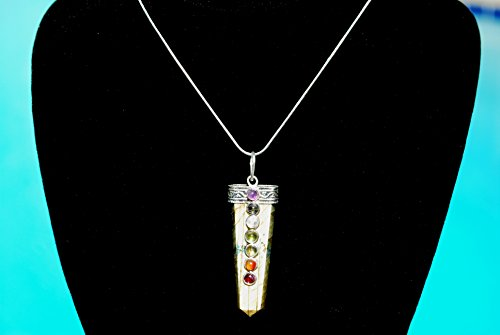 Charged 7 Chakra Labradorite Crystal Perfect Pendant for sale  Delivered anywhere in USA