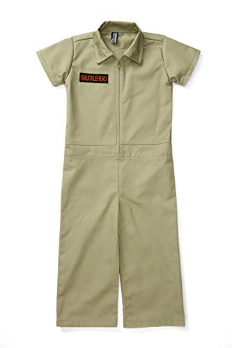 Born to Love Kids Coverall for Boys, Mechanic Halloween Jumpsuit Costume Baby Outfit (4T, Olive)]()