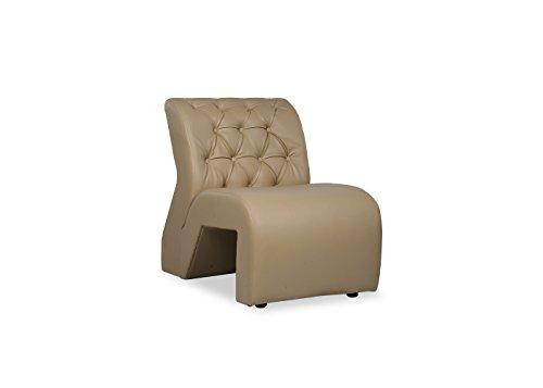 Durian Bid Leatherette Single Seater Sofa for Living Room  Beige