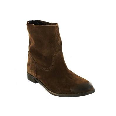 Boots femmes MYMA velours marron nLXgHrRm
