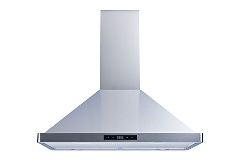 Winflo 30″ Wall Mount Stainless Steel Convertible Kitchen Range Hood with 450 CFM Air Flow, Touch Control, Aluminum Filters and LED Lights
