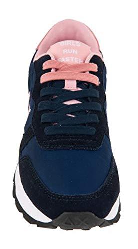 Nylon 68 Doppio Ally Plantare E Running Z28201 Sneakers In Nylon Tela Tessuto Solid Memory Navy Donna Collezione Sun Camoscio Fuxia Blue Sun68 5xpqU4