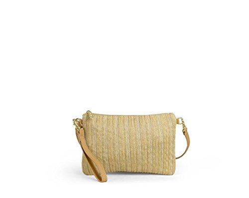 Handbag With Beige Stripes Detail