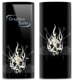 Guitar Skull Skin for Apple iPod Nano 4th Generation