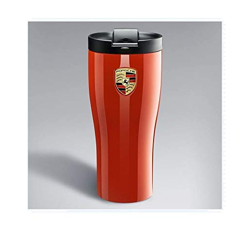 (Genuine Porsche Double Walled Stainless Thermal Tumbler Orange)