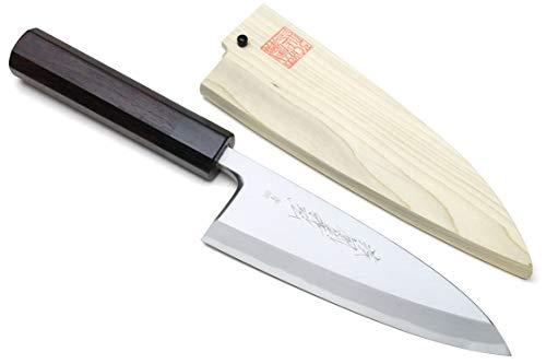 (Yoshihiro Hongasumi Blue Steel #2 Deba Fish Fillet Knife (7