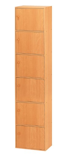 Home Source Industries US3124 OAK 6-Cube Utility Cabinet, Oak Finish