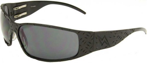OutLaw Eyewear Tornado Men's Black Frame Gray Lens - Outlaw Sunglasses